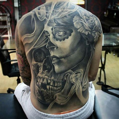 impressive day of the dead tattoo by tom 225 s s 225 nchez pi 241 eiro