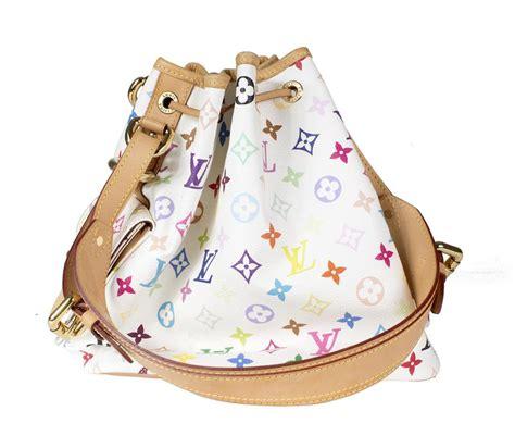 louis vuitton rainbow monogram white leather shoulder bag