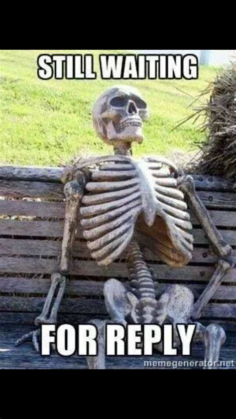 waiting   reply   text waiting skeleton meme
