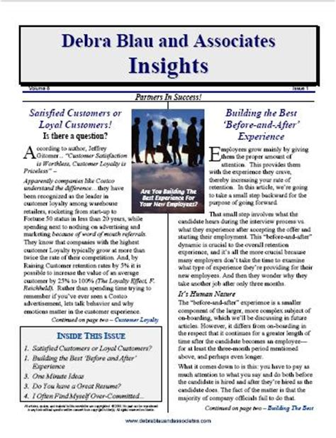 Newsletter Blog Articles Provided Plus Free Newsletter Design Leadership Newsletter Article Template