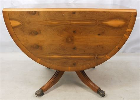 Yew Dining Table Georgian Style Yew Dropleaf Dining Table Sold