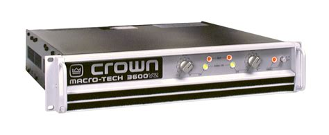 Power Lifier Crown 3600 Crown Ma 3600vz Power Lifier Rentals Chicago And Nationwide Tc Furlong