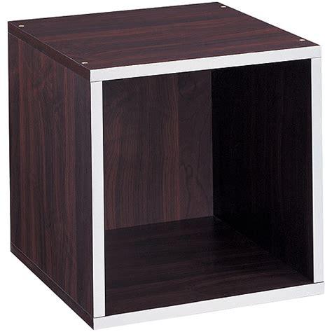 chrome quadrant trim b q quadrant storage cube with chrome trim espresso walmart com