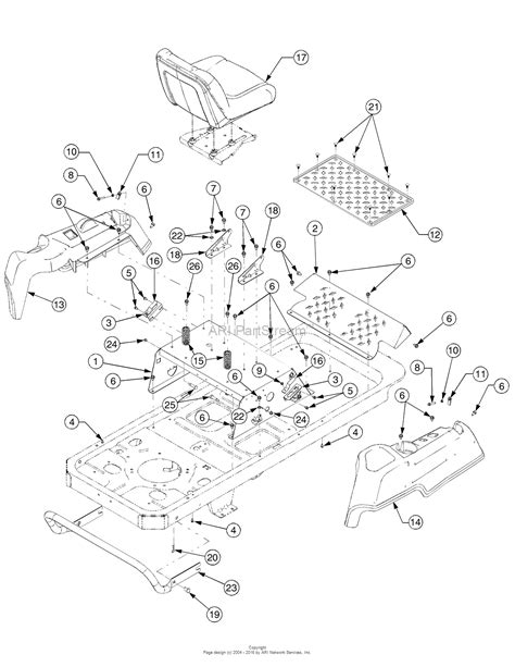 mustang parts diagram troy bilt 17af2acp766 mustang rzt 50 2007 parts diagram