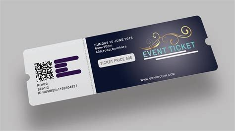 design event tickets photoshop event ticket design photoshop tutorial youtube