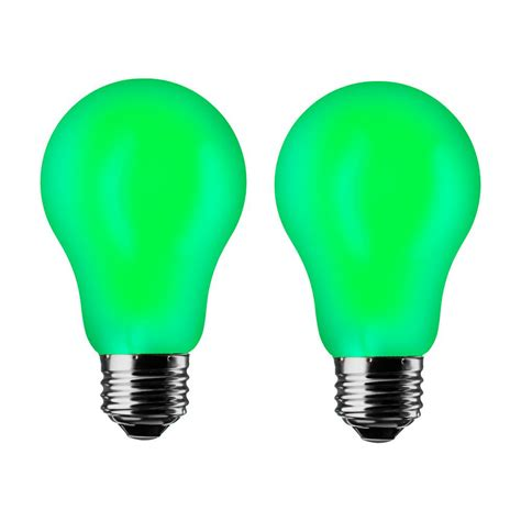 meilo green a19 7w led light bulb 2 pack a19 gr 2pk
