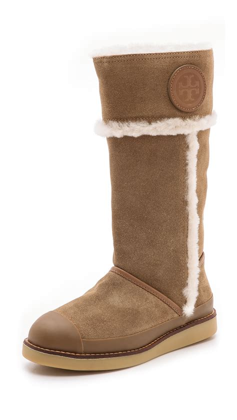 burch boots burch nadine mid shaft boots in brown camel honey