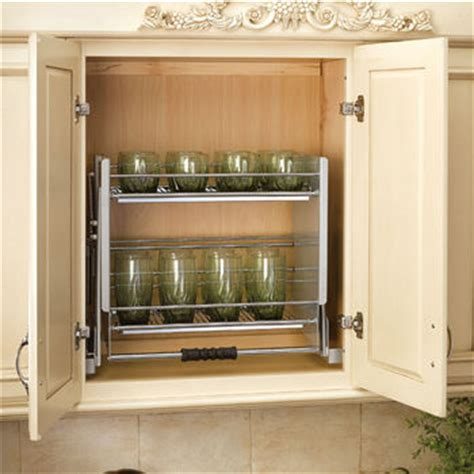 kitchen cabinet shelving systems rev a shelf quot premiere quot pull down shelving system for