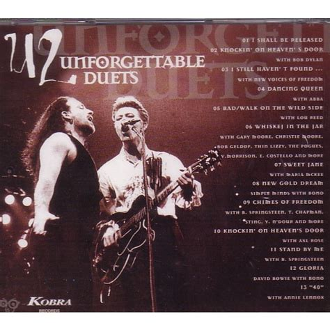 Cd U2 The Unforgettable unforgettable duets by u2 cd with avefenixrecords