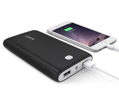 aukey s 20 000mah portable power bank can recharge an iphone 6 seven times priced at 27