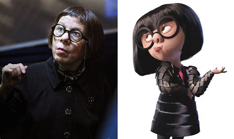 linda hunt the incredibles edna mode celebrity 25 cartoon look alikes captured in real life bored panda