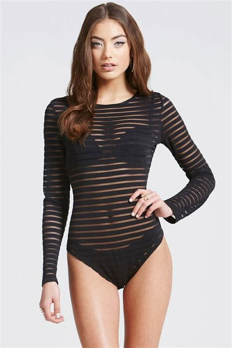 little girls black bodysuit girls on film black stripe mesh bodysuit girls on film