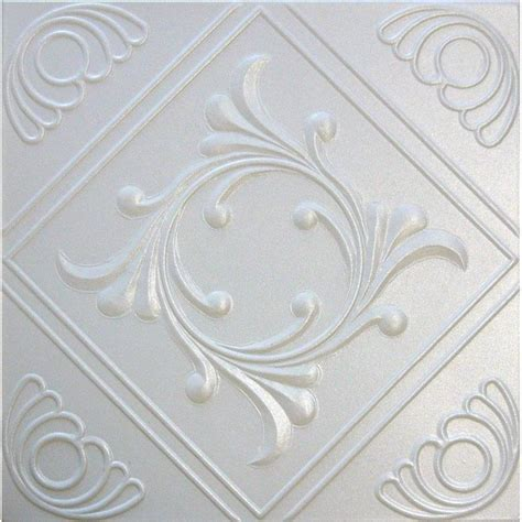 Where To Buy Styrofoam Ceiling Tiles by R2w White Decorative Styrofoam Glue Up Ceiling Tiles 20x20