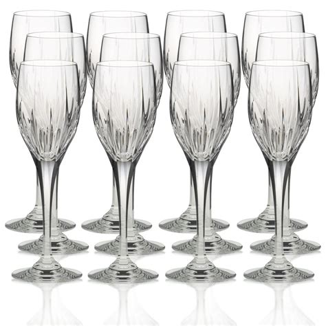 mikasa barware mikasa arctic lights crystal wine glasses set of 12 ebay