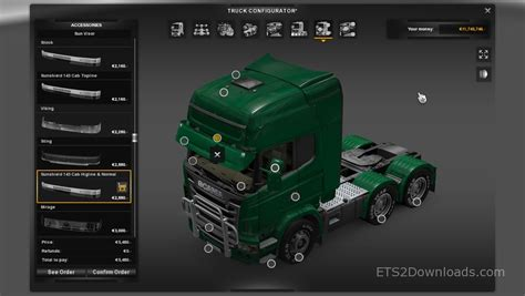 Home Place Interiors sunshield 143 for scania euro truck simulator 2 mods