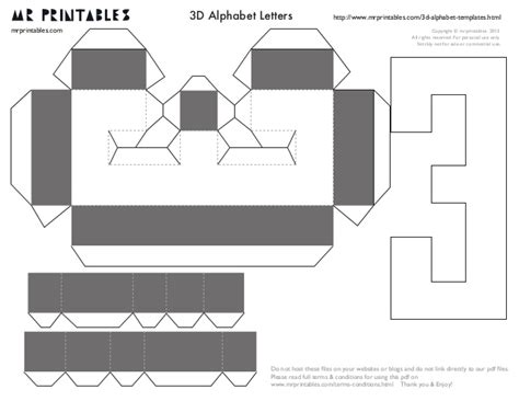 3d number templates mrprintables 3d alphabet templates a to m