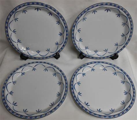 Blue Pattern Dinner Plates | set 4 dansk bistro norwegian blue pattern dinner plates