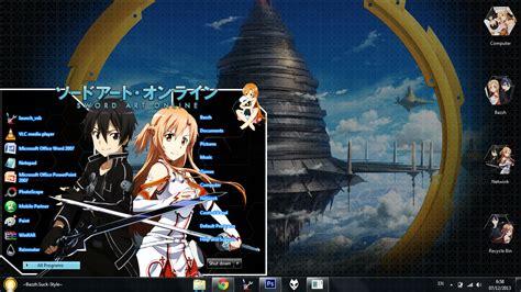 download themes windows 7 sword art online theme win 7 sword art online by bashkara
