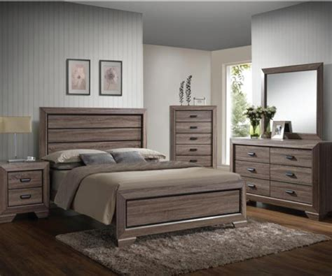 rustic bedroom suites farrow rustic grayish brown 4 pieces bedroom suite