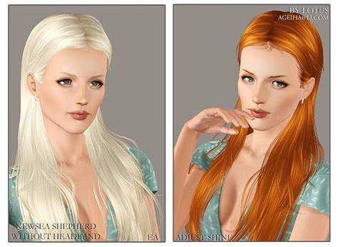 sims 3 custom content fringe hairstyle the sims 3 newsea s shepherd hairstyle no headband