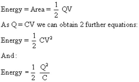 capacitor stored energy equation time constant and energy stored in capacitors s cool the revision website
