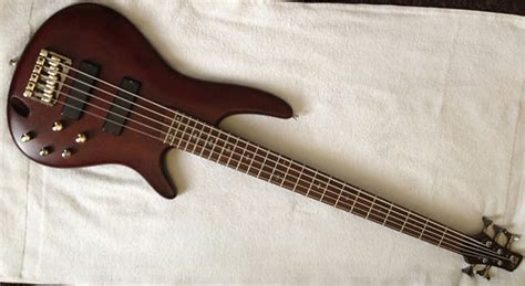 Bass Ibanez Sr505 Bm Made In Indonesia ibanez sr505 5 string bass with wenge bubinga neck