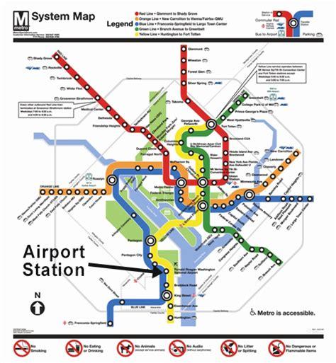 washington dc metro map airport metrorail service