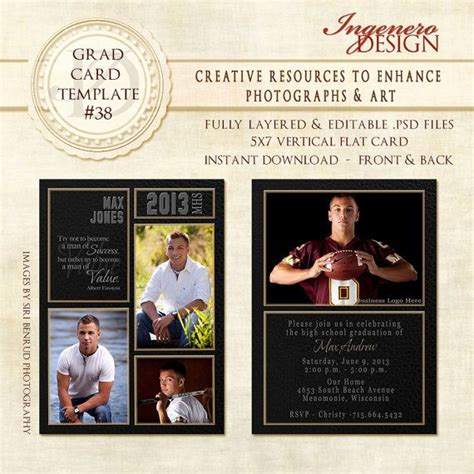 invitation templates for photoshop elements 17 best images about guys graduation announcements on