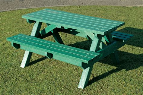 plastic benches uk heavy duty picnic table bench 1500mm weatherproof recycled plastic green