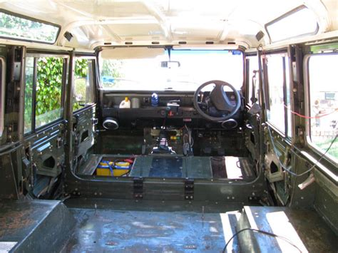 land rover 110 interior land rover defender expedition cer conversion part 1