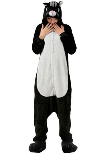 Cat Pajamas Import Menjamin Kualitas womens hooded black cat pajamas onesies animal costume black pink