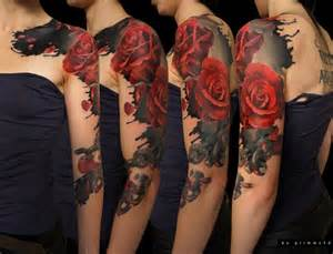 Tattoos for girls roses 50 cool sleeve tattoo designs art and design