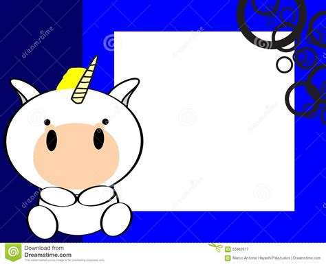 Cute Baby Unicorn Background Stock Vector   Image: 55962677