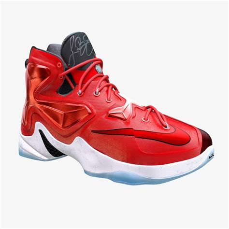 basketball shoes model lebron 13 basketball shoe 3d model
