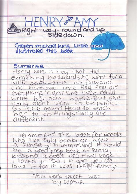 book reports already done grade 5 6r s wiki s book report