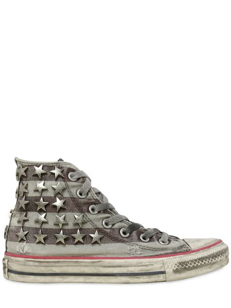 Converse Limited Edition Trainers For Product by Converse Limited Edition Distressed Low Sneakers In Gray