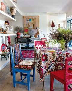boho style home decor vibrant prints in artistic flat furnish burnish