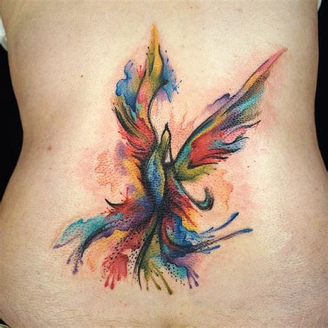 phoenix watercolor tattoo everyday today watercolor abstract bi