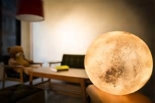 3d Lamps Amazon luna lamp brings the moon into your room bored panda