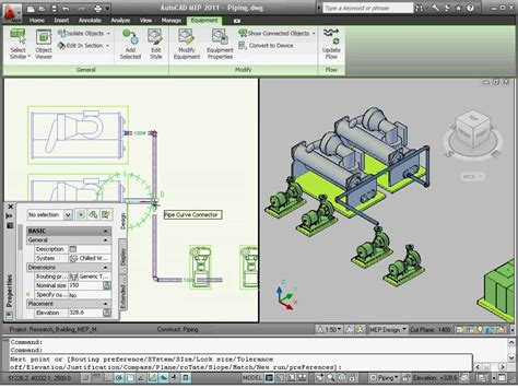 Tutorial Autocad Mep | autocad mep 2011 tutorial how to create piping systems