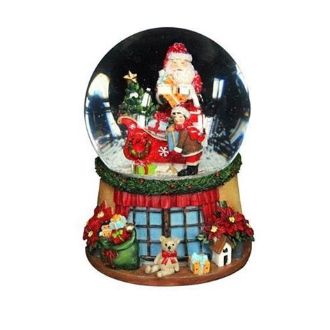 traditional christmas snowglobes traditional santa sleigh musical snow globe tutti decor ltd