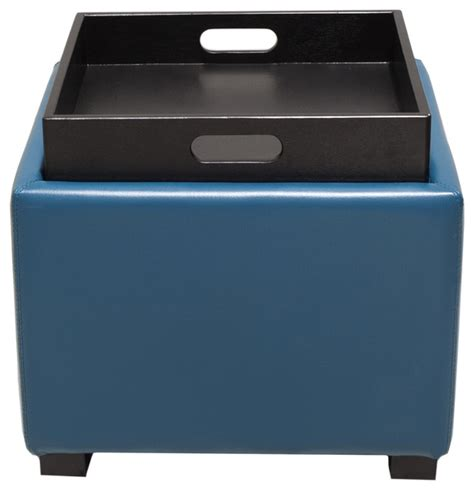light blue storage ottoman bray square storage ottoman blue footstools and