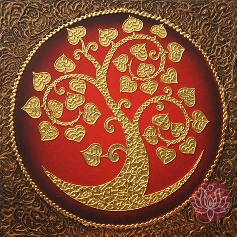 Thai Decorations by Thai Style Golden Wall Decoration Diameter 50 Cm