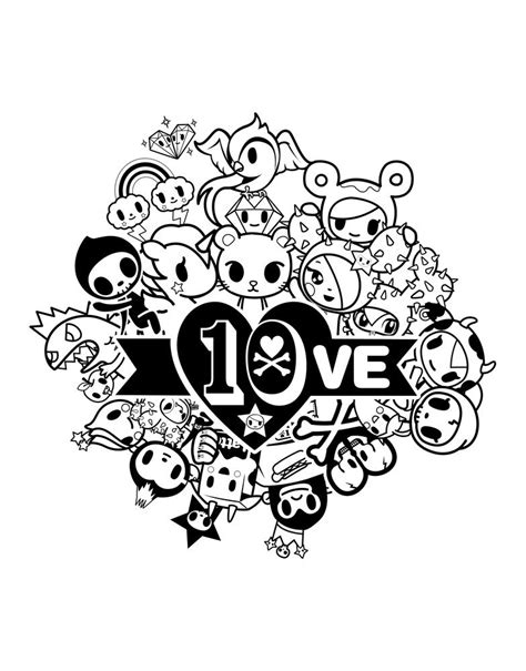 tokidoki coloring pages coloring pages