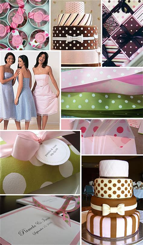 polka dot wedding theme