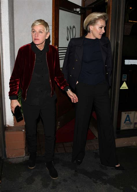 portia de and degeneres degeneres and portia de at madeo restaurant in