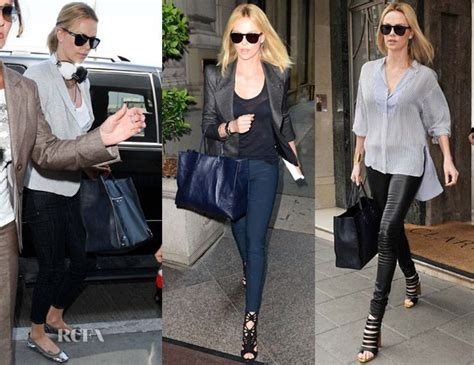 Charlize Theron With And Balenciaga Purses by Charlize Theron Balenciaga Papier Bag Bags
