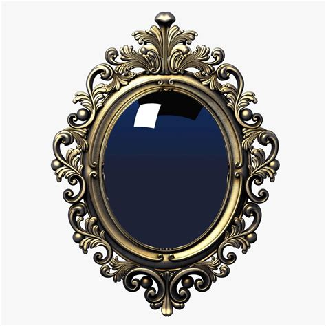 baroque pattern frame 3d frame baroque oval decor interior design