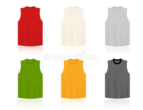 sleeveless shirt template sleeveless t shirts blank templates stock vector image