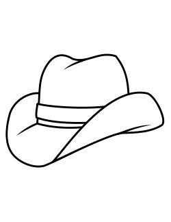 coloring page of cowboy hat ποιηματάκια με θέμα το αγαπημενο μου ζωο η τάξη μας